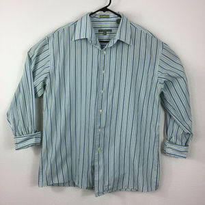 Kenneth Cole Reaction Striped Long Sleeve Shirt L